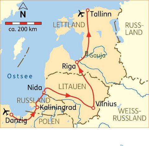 Königsberg Kaliningrad Karte.Danzig Königsberg Baltikum Höhepunkte